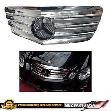 W211 E-CLASS ALL CHROME GRILLE STAR AMG EMBLEM E550 E350 E63 E320 2007 2008 2009