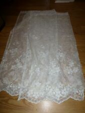 Pair of 34 x 36 Lace Curtains