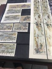 China 2 Mint Strips Of 5 With Margin And 2 Mint Sets