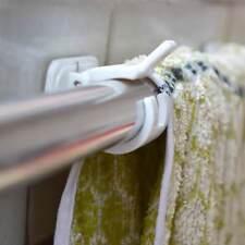 Durable 2pcs Self Adhesive Curtain Rods bracket Hanger Crossbar Curtain Clips