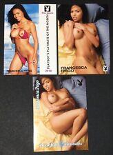 Three (3) - Playboy Cards - Francesca Frigo