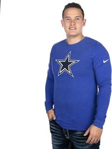 Nike Mens Dallas Cowboys Vault Long Sleeve Crackle T-Shirt Tri Blend Small NEW