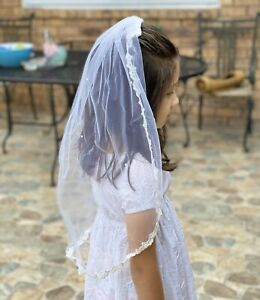 Edgehill Collection Girls Veil White Headpiece