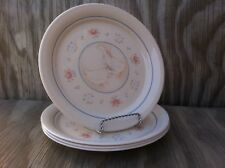 Corelle Cornerstone Promenade Geese Beige Medium Sized Luncheon Plates Set Of 4
