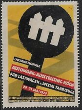 Germany Poster stamp: 1927 Auto Expo for Trucks & Special Vehicles, Koln- cw60.9
