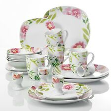 ASHLEY 20-pieces Porcelain Dinner Set Ceramic Tableware Dessert Soup Plate Bowl