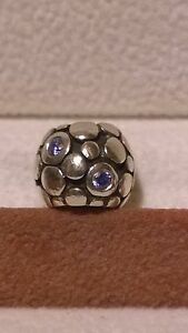 GENUINE PANDORA Sterling Silver 925 Ale Blue Bubbles Charm 790329CZB
