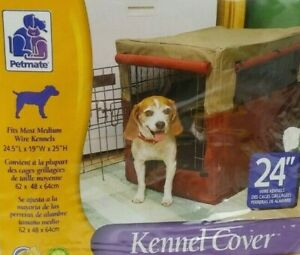 """Indoor Outdoor 24"""" Petmate Dog Kennel Cover 24"""" Open but never used!"""