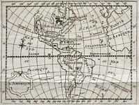 1773 AMERICA - Carta Geografica Antica, Molto Rare. Incisione