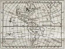 1773 L'Amérique - Carte géographique ancienne, très rare. Gravure