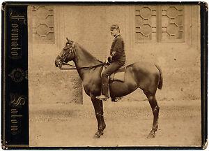 Large Cabinet Official of the Italian Cavalry Original albumen photo 1900c L556