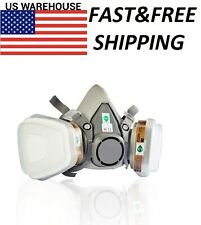 For 3M 6200 6001 7 pcs Suit Respirator Painting Spraying Face Gas Mask 5N11 New