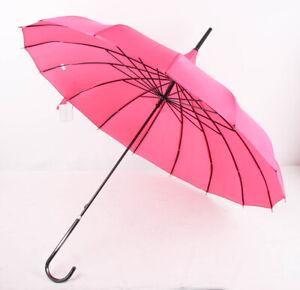 Lindy Lou Pagoden Schirm Asia Regenschirm fuchsia Pink/Schwarz