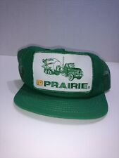 Green Snapback Cap Prairie Concrete Mixer Trucker Hat  Made in USA excellent