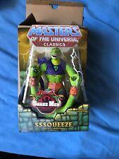 Sssqueeze - Masters of the Universe Classics MOTUC - NIB Action Figure Snake Men
