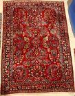 Antique Sarouk Hand Knotted Oriental Carpet, 3x5, c1900's Soft Pile