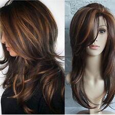 Women Fashion Long Wavy Curl Full Wigs Brown Hair Wig Cosplay Hair Accessories