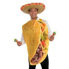Mens Womens Taco Fancy Dress Costume Adult Mexican Fiesta Food Funny Tortilla