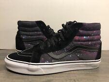 Vans Unisex SK8-Hi Skate Shoes Black Galaxy  Lace Up M 10.5 W 12