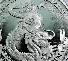 Rare 2017 1 oz Dollar Death Dragon Silver Shield .999 fine silver w/ box and COA