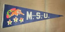 1970's Vintage Memphis State Tigers Football Pennant