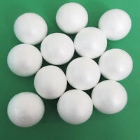 10 Round White 80mm Polystyrene Foam Ball Modelling Sphere Styrofoam Craft FG ^S