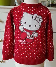 C&A Hello Kitty Pullover Strickpullover Jacke Sweatshirt Rot gepunktet Gr 92