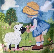 My Little Lamb JIFFY wool needlepoint kit  vintage 1981