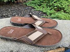 Clarks Flip Flops 13M Boho Retro Classic Comfort Excellent Condition