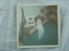 Vintage Photo Baby Boy w/ Daddy's Army Portrait & Note on Back 808