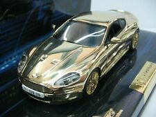 WOW EXTREMELY RARE Aston Martin DBS Gold James Bond 007 Royale 1:43 Minichamps