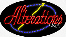 "New ""Alterations"" 27x15 Oval Solid/Animated Led Sign w/Custom Options 24086"