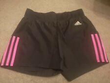 Adidas Shorts Xs Ladies Girls Black Pink Size 6 8 Sports Exercise gym run new