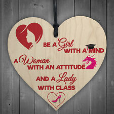 Mind Attitude Class Lady Motivational Novelty Hanging Heart Friendship Girl Gift
