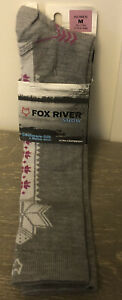 Fox River Snow Womens Socks SZ M 7-9.5 Cashmere Silk & Merino Wool NWT