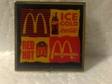 McDonald's Ice Cold Coca Cola Red Hot Fries Sign Collectible Pin pin3360