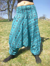Sarouel OM Turquoise - Vetements Hippie Baba Cool