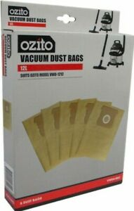 Ozito 12L Replacement Vacuum Dust Bags Wet & Dry Vacuum Manual Fit