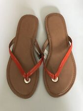 Banana Republic Orange Flip Flop Thong Sandals Womens 6