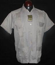 Guayabera Mens Mexican Wedding Shirt Copacabana Yucatan short sleeve Off-White