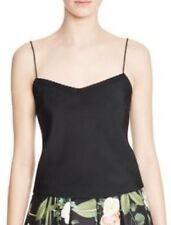 TED BAKER WOMENS 'PELKA' Black Studded Scalloped Cami Top  Small /UK 8