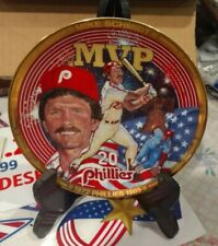 Mike Schmidt Mvp Collector Plate By Hamiliton Collection Excellent Condition
