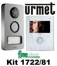 URMET KIT VIDEO 1722/81 2 FILI VIDEOCITOFONO VIVA-VOCE A COLORI