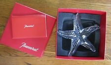 EXCEPTIONAL SIGNED BACCARAT Ribbed Crystal STARFISH Figurine MIB