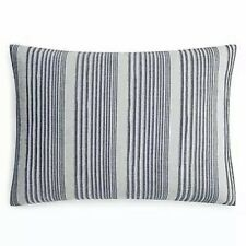 Oake Chambray Pleated King Pillow Sham - Navy 20in x 36in.