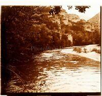 FRANCE Nature Rivière ca 1910, Photo Stereo Vintage Plaque Verre VR4L6