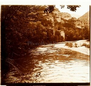 France Nature River Ca 1910, Photo Stereo Vintage Plate Glass VR4L6
