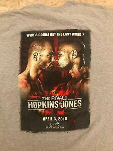 """Bernard Hopkins vs. Roy Jones Jr. II, """"The Rivals"""" 2010, T-Shirt 2XL"""