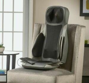 Brookstone C7 Shiatsu Massging Seat Topper - Gray HEAT ROLLING NECK AIR COMPRESS