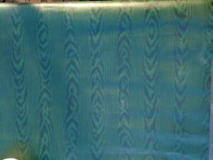 Lot of 2 Waverly Double Rolls Faux Satin Green Wallpaper #557317